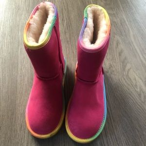 Arctic Paw Shoes Girls Pink Winter Boots For Children